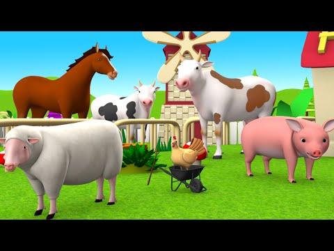 Farm & Barn Animals Fun Play - Learn Farm Animals Names for Kids Children Cartoon Educational