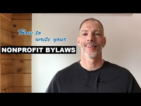 How to Write your Nonprofit Bylaws