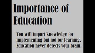 Importance of Education Presentation.. Picture Speech