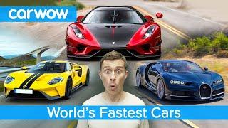 Bugatti Chiron, Koenigsegg Regera, Ford GT - here are the fastest cars in the world!