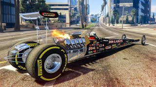 THE FASTEST CAR IN GTA 5! - (GTA 5 Dragster Mod)