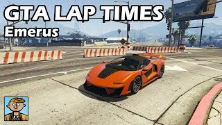 Fastest Supercars (Emerus) - GTA 5 Best Fully Upgraded Cars Lap Time Countdown