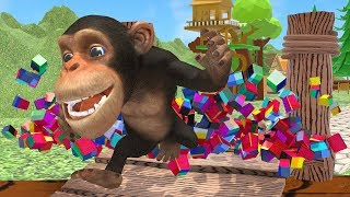 Learn Fruits with Funny Monkey in PC Game style | Educational Videos for Kids