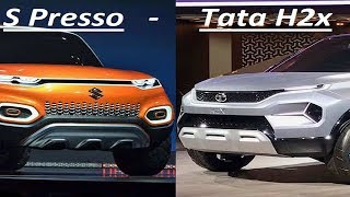 Marut S Presso featured with Tata H2x Hornbill, Kwid Facelift Details in Micro SUV Segment