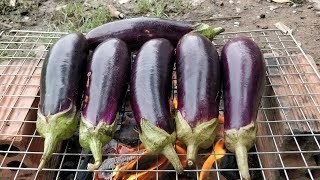 Yummy Shrimp Cooking with Eggplant | Grilled Eggplant | Eggplant Shrimp Recipe