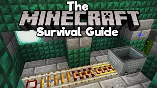 How To Set Up A Minecart Rail Station! ▫ The Minecraft Survival Guide [Part 223]