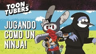 ¡Jugando como un ninja! | Toontubers | Cartoon Network