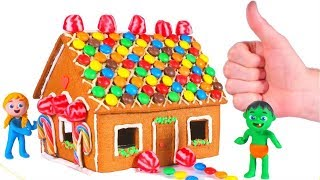 Kids Building A House With Cookies And Candies ❤ Cartoons For Kids