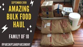 Amazing BULK FOOD HAUL on FRUIT Plus Essentials-September 2019