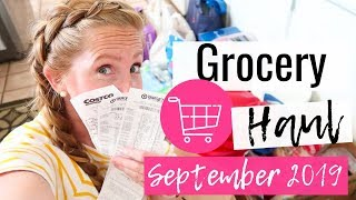 Grocery Shop With Me! Target Haul & Costco Haul | September 2019 Grocery Haul