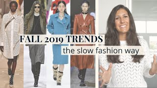 Fall Winter 2019 Fashion Trends | How to Wear Them | Slow Fashion