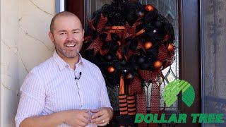 How To Make A Dollar Tree Halloween Wreath  (On A Budget 2019)