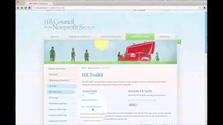 Overview of the HR Toolkit on hrcouncil.ca