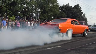 Muscle Car Street burnouts Hot Rods peeling out burning rubber Adirondack Nationals Samspace81 vlog