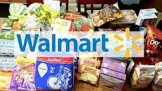 WALMART GROCERY HAUL! | LARGE FAMILY FOOD & PREP FOR VACATION!