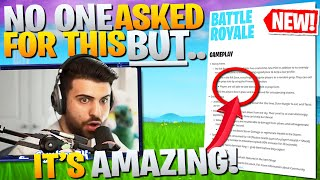 NO ONE Is Thanking Epic For This UNDERRATED Change! (Fortnite Battle Royale)