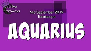 Someone Is Getting Rejected!  AQUARIUS Mid September 2019 Tarot Reading