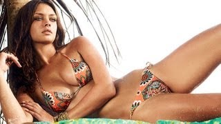 Playboy Cover star Candice Boucher models swimsuits in Zanzibar