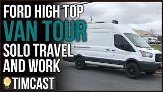 VAN TOUR | SOLO TRAVEL | SOLAR A/C SHOWER BATHROOM  | TIMCAST