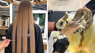 Most Satisfying Haircut and Color Transformation | Amazing Hairstyles for Women 2019