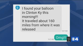 Amazing: Kentucky relative finds balloon released by New Athens, Ill. woman