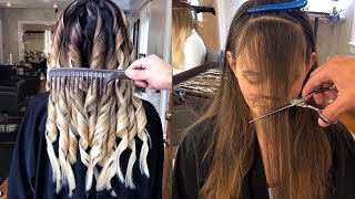 Amazing Hair Cutting & Hair Color Transformation | The Best Hairstyles for Women 2019