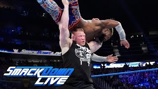 Brock Lesnar assaults Kofi Kingston after The New Day's victory: SmackDown LIVE, Sept. 17, 2019