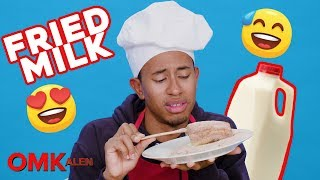 'OMKalen': Kalen Reacts to and Prepares Fried Milk