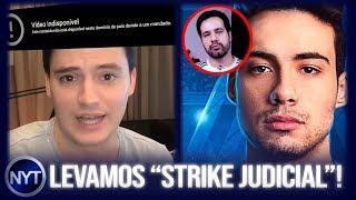 Felipe Neto entra na justiça e consegue bloquear vídeo do NY Treta, MuuhPro vs Rodrigo Baltar