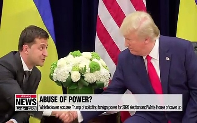Whistleblower accuses Trump of soliciting foreign power for 2020 election and White House of cover up
