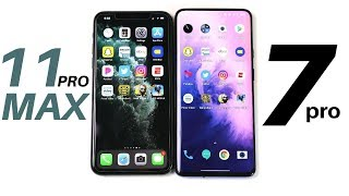 iPhone 11 Pro Max vs OnePlus 7 Pro Speed Test!