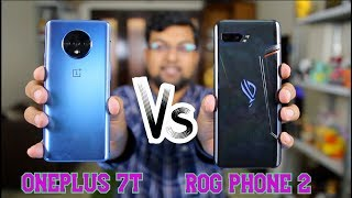 Oneplus 7T vs ROG Phone 2 Pubg Speed Test Comparison | Best Gaming Smartphone? Hindi
