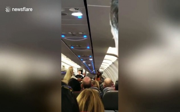 Shocking scene as American Airlines passenger tries smoking weed mid-flight causing emergency landing