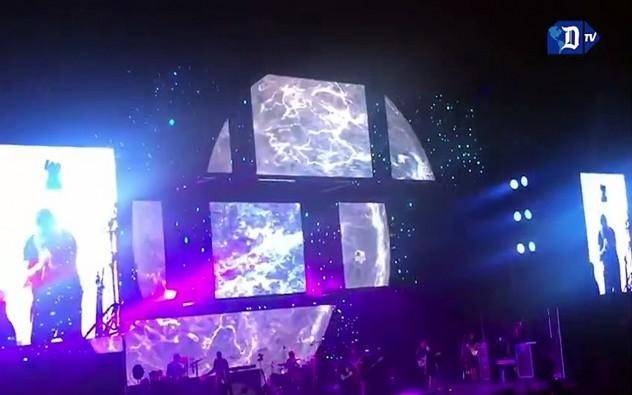 Alejandro Sanz en concierto en el American Airlines Arena en Miami