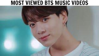 [TOP 50] Most Viewed BTS Music Videos | September 2019