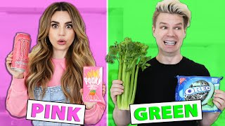 Eating Only ONE Color of Food for 24 Hours!!! Rainbow Food Challenge