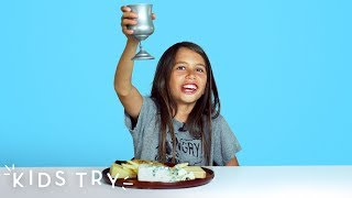 Kids Try Food From Medieval Times | Kids Try | HiHo Kids