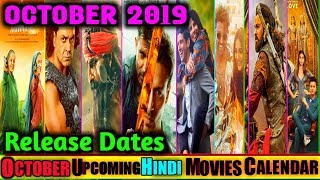 October 2019 Upcoming Bollywood Movies Release Dates