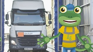 Gecko's Real Vehicle Takeover! | Gecko's Real Vehicles | Educational Videos | Trucks For Kids