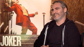 JOKER Joaquin Phoenix Interview: Meeting Batman, Going To A Dark Place, Sequel, The Joker Laugh