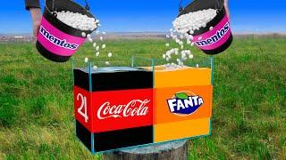 Experiment: Coca Cola VS Mentos & Fanta VS Mentos