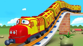 Let's Do It: Trains for Kids - Choo Choo Cartoon Train for Children - Toy Factory Cartoon Train