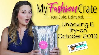 My Fashion Crate Unboxing | October 2019