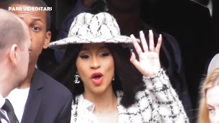 VIDEO Cardi B @ Paris Fashion Week 1 october 2019 show Chanel