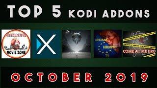 TOP 5 KODI ADDONS FOR OCTOBER 2019