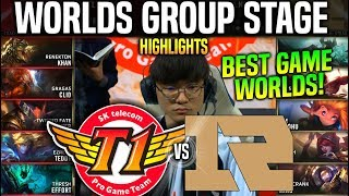 SKT vs RNG Highlights *BEST GAME EVER* Worlds 2019 Group Stage Day 2 - SKT T1 vs RNG Highlights
