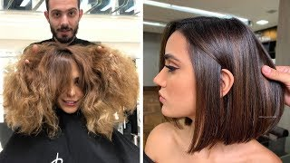 Trending Short Haircut Transformation In Winter 2019 | New Hairstyles Tutorials | Hair Inspiration