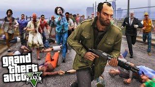 HORDA de +100 ZOMBIES!! GTA 5 ZOMBIES #3 Grand Theft Auto V - The Last Survivor