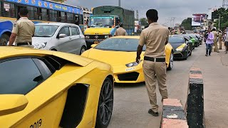 Police Pull Over 28+ Lamborghini's | SUPERCARS INDIA | Nov 2019