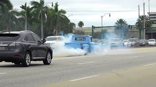 SO MANY BURNOUTS!! | Cars and Coffee Palm Beach November 2019 [Part 3]